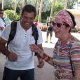 Fernanda Young também esteve presente e se divertiu bastante com o amigo Luigi Baricelli