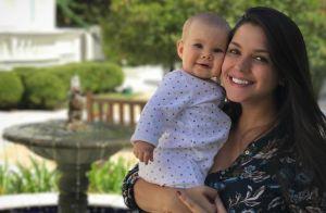 Thais Fersoza evita fotos de fãs com a filha, Melinda: 'Falo 'tira comigo!''