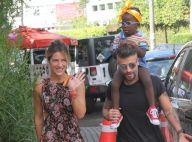Giovanna Ewbank e Bruno Gagliasso levam Títi à festa do filho de Regina Casé
