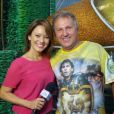 Geovanna Tominaga entrevistou Zico para o 'Mais Você'