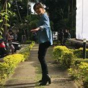 Cauã Reymond grava Tatá Werneck dançando em bastidor de filme: 'Gênia'. Vídeo!