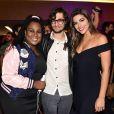 Os ex-BBBs Roberta, Pedro e Vivian prestigiaram a pré-estreia do filme 'Amor.com' no shopping JK Iguatemi, em São Paulo, na noite desta segunda-feira, 8 de maio de 2017