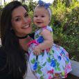 Thais Fersoza comemorou os 9 meses da filha, Melinda
