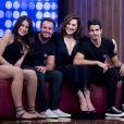 Claudia Raia participou do 'Tamanho Família' com os filhos, Sophia e Enzo
