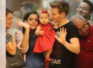 Michel Teló passeia com filha, Melinda, e mulher, Thais Fersoza, no RJ. Fotos!