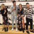 Giovana Ewbank, Kadu Dantas, Camila Coelho e Bruno Gagliasso se divertiram durante o lançamento da coleção da Riachuelo