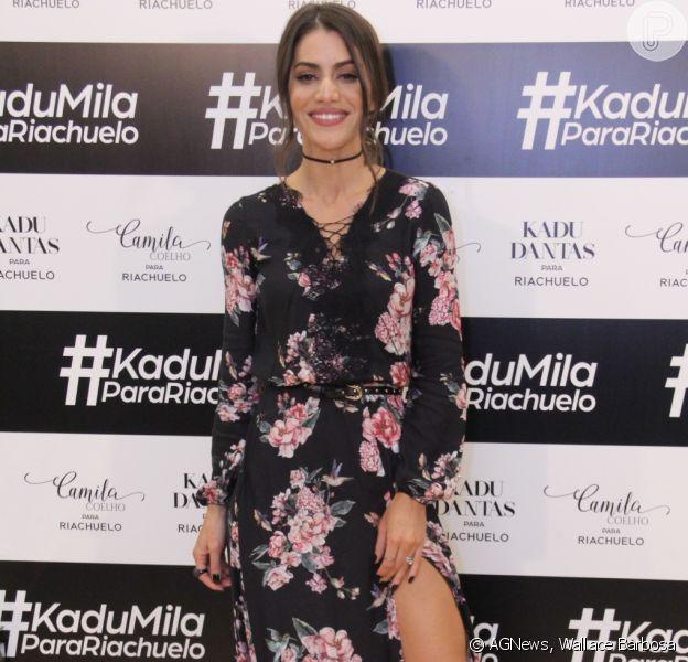 Camila Coelho estreou como estilista para a loja Riachuelo nesta quarta-feira, dia 17 de maio de 2017, em Ipanema, Rio de Janeiro