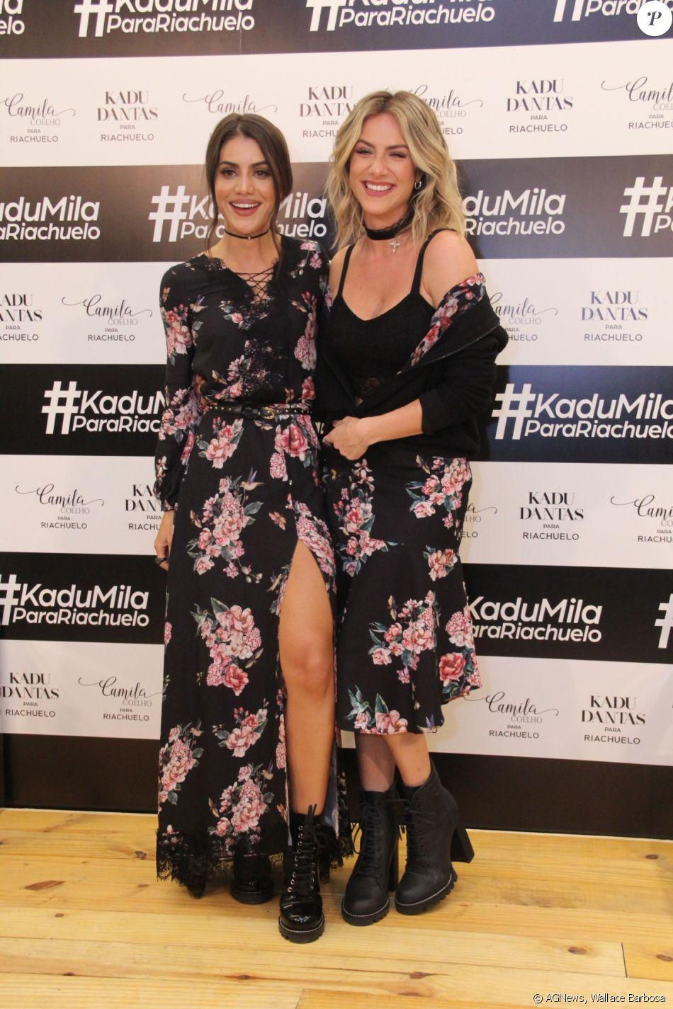 f2187e217 Camila Coelho e Giovanna Ewbank usaram looks com mesma estampa na estreia  da blogueira como estilista da Riachuelo