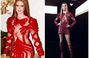 Marina Ruy Barbosa repete vestido já usado por Fernanda Lima em programa