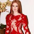Marina Ruy Barbosa repetiu o vestido de Fernanda Lima na festa  de aniversário de 25 anos da blogueira Thássia Naves