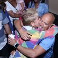 Xuxa recebeu o carinho do coreógrafo Fly