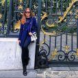 Marina Ruy Barbosa apostou em look estiloso para passear em Paris, na França