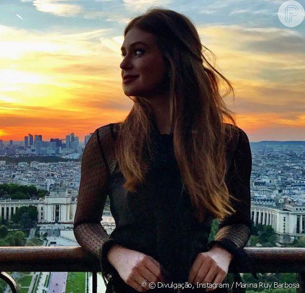 Marina Ruy Barbosa tem mostrado no Instagram detalhes de seus looks durante viagem pela Europa