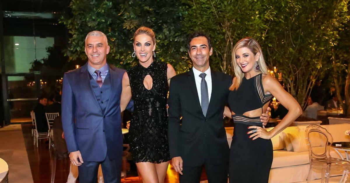 5540947509ddf Ticiane Pinheiro e Cesar Tralli posaram com Ana Hickmann e o marido,  Alexandre Corrêa - Purepeople