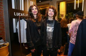Luciana Gimenez prestigia o filho Lucas Jagger no lançamento de sua coleção