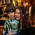 Fernanda Souza levou a sobrinha para prestigiar a coleção de Lucas Jagger