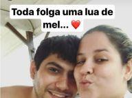 Marília Mendonça curte viagem romântica com o noivo, Yugnir: 'Lua de mel'