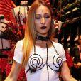 Sabrina Sato esteve em um evento da grife Loungerie, no shopping JK Iguatemi, em São Paulo
