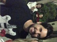 Neymar posa com Claudia Leitte e o marido da cantora durante viagem aos EUA