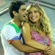 Grazi Massafera negou os rumores de casamento com Patrick Bulus no final de fevereiro