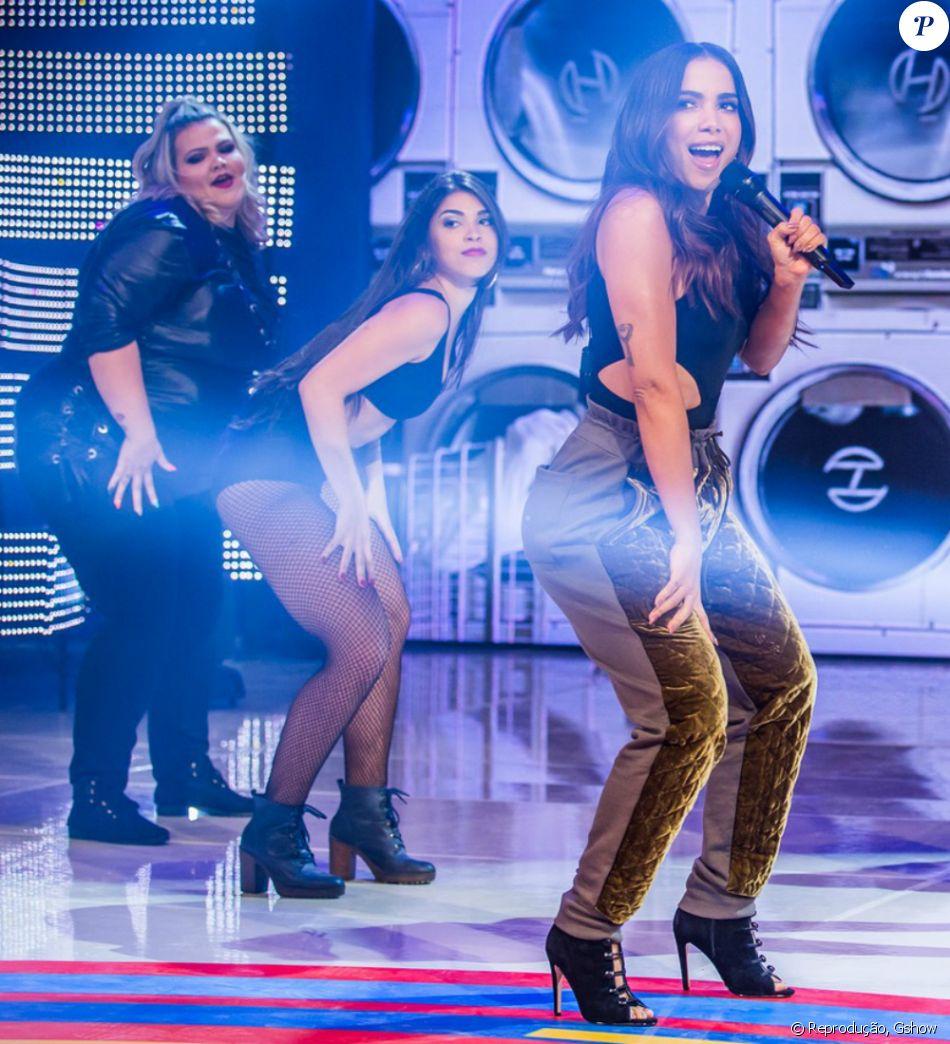 Anitta apresenta 'Paradinha' pela primeira vez na TV e dançarina plus size rouba a cena