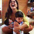 Juliana Paes é mãe de Pedro, de 3 anos, e Antonio, de 8 meses