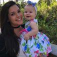 Thais Fersoza engravidou novamente logo depois que Melinda nasceu