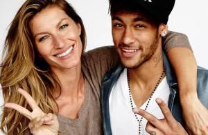 Neymar e Gisele Bündchen posam juntos em ensaio para revista 'Vogue'
