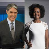 William Bonner elogia Maju Coutinho por estreia no 'Jornal Hoje': 'Causando'