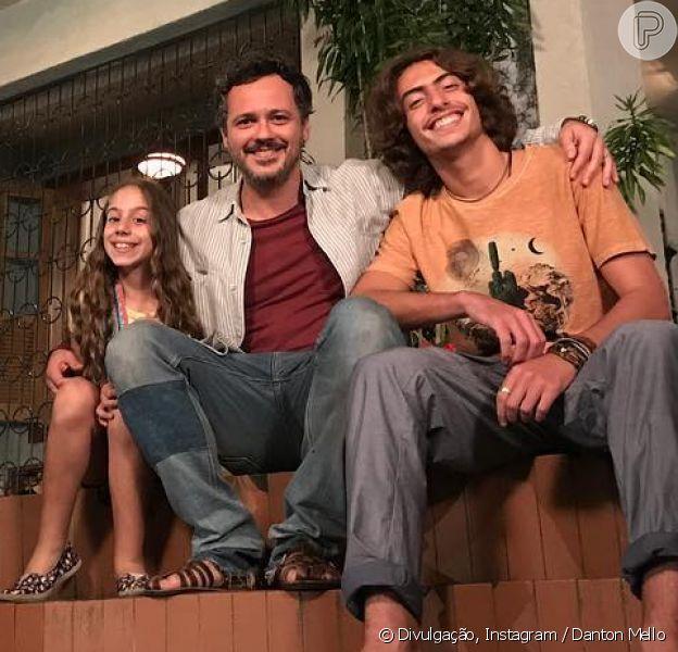 Danton Mello elogia o ator Jaffar Bambirra, seu filho na novela 'Pega Pega': 'É um garoto lindo, muito talentoso'