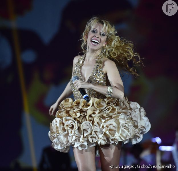 Joelma teve a companhia do namorado, o empresário Alessandro Calvacante, em apresentação em Belém no sábado, 10 de junho de 2017