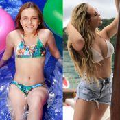Larissa Manoela posa de biquíni e fãs apontam silicone: 'Cresceu em pouco tempo'