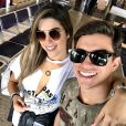 Vivian Amorim e Manoel Rafaski desembarcaram nos Estados Unidos para sua prumeira viagem internacional