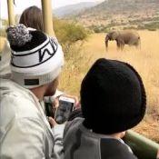Bruna Marquezine e Neymar curtem safári com Davi Lucca na África. Vídeo!