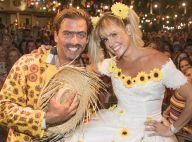 Deborah Secco, com look de noiva, se casa com Henri Castelli em festa junina