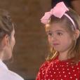 Dulce Maria (Lorena Queiroz) concorda em ajudar Nicole (Dani Gondim), liga para Gustavo (Carlo Porto) e diz que ficará feliz com seu casamento com a modelo, na novela 'Carinha de Anjo'