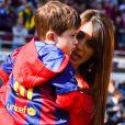 Antonella Roccuzzo e Lionel Messi são pais de Matteo, de 1 ano, e Thiago, de 4