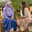 Em conversa com Diana (Camilla Camargo), Cecília (Bia Arantes) diz que Verônica (Elisa Brites) é apaixonada por Gustavo (Carlo Porto) e é aconselhada pela amiga a lutar por seu amor, no capítulo que vai ao ar quinta-feira, dia 29 de junho de 2017, na novela 'Carinha de Anjo'