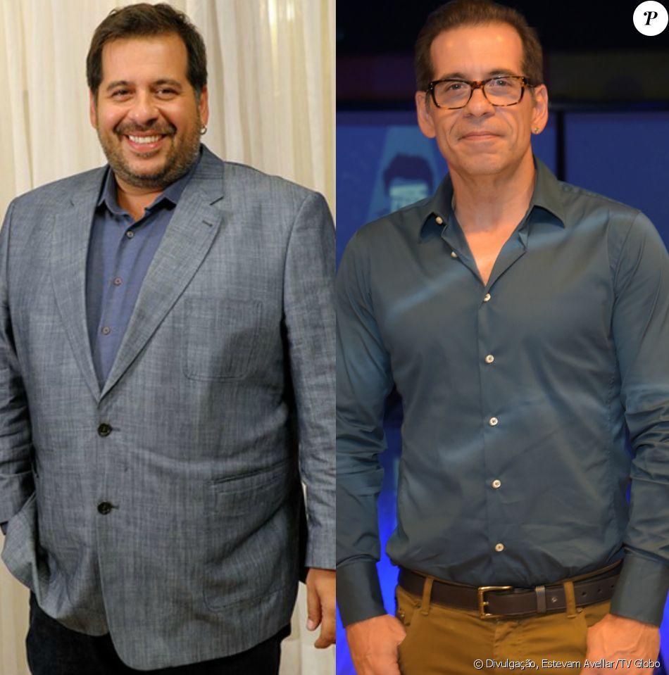 Leandro Hassum, após emagrecer 65 quilos, mostrou antes e depois em foto nesta segunda-feira, 19 de junho de 2017