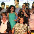 Benedito Ruy Barbosa é homenageado com música cantada pelo elenco durante a coletiva de lançamento de 'Meu Pedacinho de Chão'