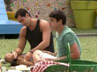 'BBB 14': Bruno De Luca dá cantada em Angela e deixa Marcelo com ciúmes