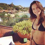 Grávida de três meses, namorada de Malvino Salvador exibe barriga supersarada