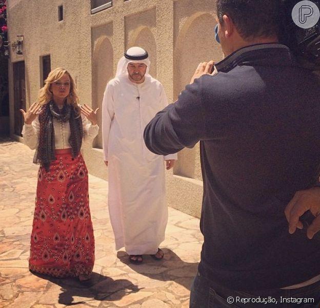 Eliana posta foto de viagem a Dubai, nos Emirados Árabes; apresentadora está no país para gravar reportagens para o seu programa na Record