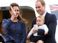 Príncipe George aparece estiloso no colo do pai em viagem para Austrália