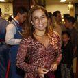 Cissa Guimarães também conferiu a estreia do musical 'O Grande Circo Místico', na noite desta segunda-feira, 28 de abril de 2014