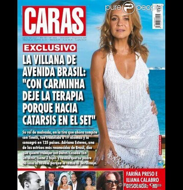 Adriana Esteves é a capa desta semana da revista 'Caras' na Argentina (01 de maio de 2014)