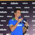 Rodrigo Faro comanda evento da Gillette em São Paulo; lançamento da marca reuniu jogadores da seleção brasileira de futebol