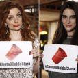 Maria Eduarda e Luisa Moraes também aderiram à campanha #ChutaOBaldeClara, na novela 'Em Família'