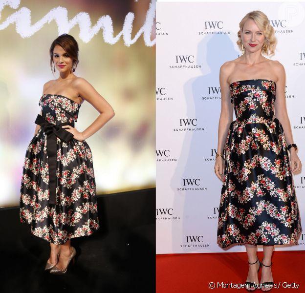 Bruna Marquezine usa vestido Dolce & Gabana no valor de R$ 24.815, o mesmo usado por Naomi Watts no Festival de Cannes 2013