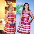 Marina Ruy Barbosa e Fátima Bernardes usam vestido Carolina Herrera no valor de R$ 3.260